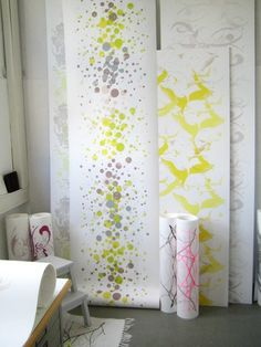 Love this wall paper - Susanne Thurn Wallpapers - Booth #7 Design Showcase 2012