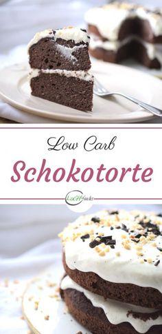 Saftige Schokoladentorte ohne Mehl (Low Carb)