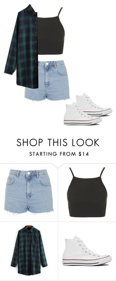 """Untitled #246"" by piinksparklegirl ❤ liked on Polyvore featuring Topshop and Converse"