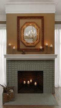 How to Paint a Brick Fireplace : Home Improvement : DIY Network. Hmmm, I might need this for our ugly fireplace.