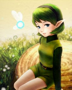 Cute Saria from the legend of Zelda