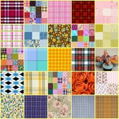 Oh My Plaid Collage (49 pieces)