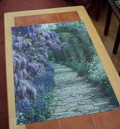 wisteria and bluebells. Not an easy one. Wisteria, Jigsaw Puzzles, Rugs, Easy, Home Decor, Farmhouse Rugs, Decoration Home, Room Decor, Carpets