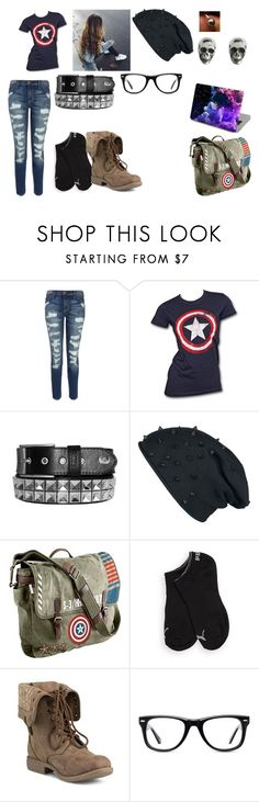 """Untitled #139"" by sai-dragneel ❤ liked on Polyvore featuring Current/Elliott, Marvel, Puma, Muse and King Baby Studio"