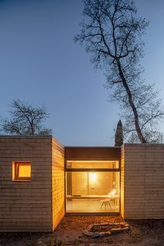 Casa GG (House GG) is surrounded by six precabricated wooden cubes to save time on the construction, one of the main premises of this project. Architects...
