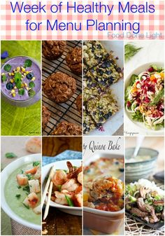 A Healthy Menu Plan for one Week - Healthy Recipes for Breakfast, Lunch & Dinner