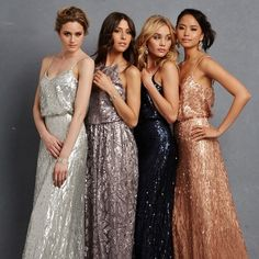 We are preeeetty much obsessed with @donnamorgan_nyc's new Serenity #bridesmaid collection that just launched! You know we can't say no to #sparkle! #donnamorgan #bridesmaiddress #serenity #love #bride #wedding
