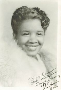 "https://flic.kr/p/dGeNbT | What a great smile | ""To my dearest pal.  With love Sarah Gregory 1945  Los Angeles Cal""   From my favorite little store, SMUT (so many unique treasures)."