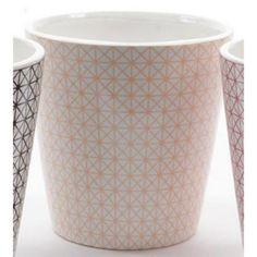 "4"" Basic Luxury Handmade Peach Pearl Geometric Patterned Ceramic Planter - Walmart.com"