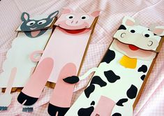Farm animal printable paperbag puppets on Etsy for cheap! So cute and easy.