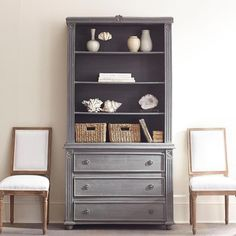 Townsend Gray Bookcase