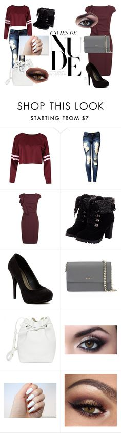 """Fashion"" by beckareka on Polyvore featuring MaxMara, Michael Antonio, DKNY, Mansur Gavriel, school, Elegant and fashionset"