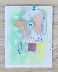 Happy Scrappy Friends - Butterfly Birthday Card