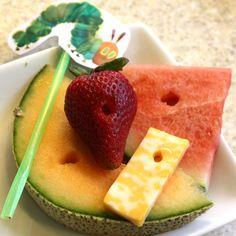 Cute. Very Hungry Caterpillar snacks.