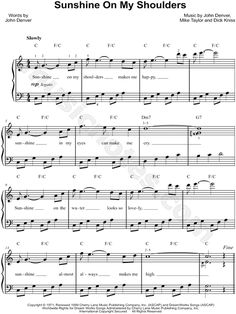 """""""Sunshine on My Shoulders"""" by John Denver"""