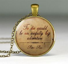 Gift ideas for girlfriend | Peter Pan quote necklaces | MapPendant