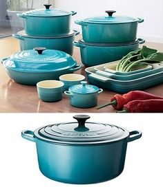 le creuset in carribean.