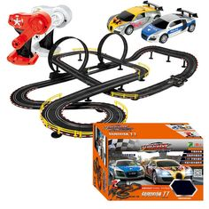 160.54$  Watch now - http://alicjo.worldwells.pw/go.php?t=32577798189 - Hot Selling Cool 2pc RC Cars With Slot Track Assemble Toy Electric Flash Racing Car For Boys Gift