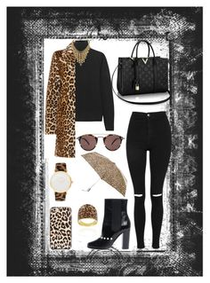 """""""Untitled #249"""" by rockinstyles ❤ liked on Polyvore featuring Topshop, Oliver Peoples, MaxMara, InWear, Chanel, Larsson & Jennings, Totes, Glitzy Rocks and Kate Spade"""
