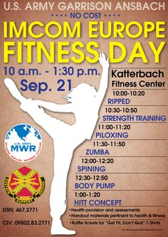 Fitness Day in Ansbach, Sep. 21