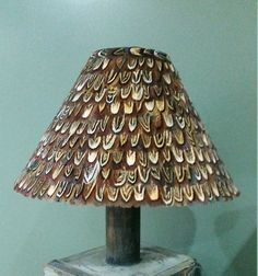 30cm pheasant feather lampshade coolie by FeathersandQuills