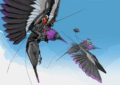 Robot Design, Monster Design, Fantasy Beasts, Sci Fi Fantasy, Nature Design, Character Art, Character Design, Robot Animal, Arte Robot