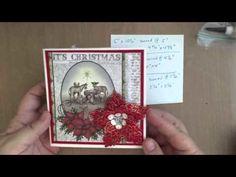 Layered Christmas Card Mini Album
