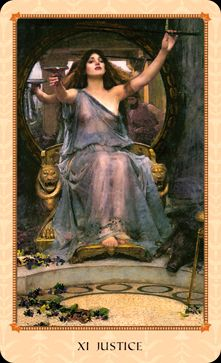 Tarot-of-Delphi- Justice - Janet Hinkel - self published 2014.  Want so badly!