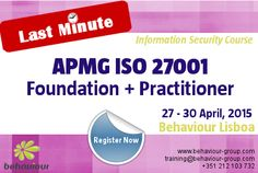 LAST MINUTE REGISTRATION for APMG ISO 27001 Foundation and APMG ISO 27001 Practitioner courses. REGISTER ONLINE. Acquire the fundamental knowledge about the content and the high-level requirements and know how to apply ISMS concepts to achieve the objectives and requirements of ISO/IEC 27001. #iso27001 #informationsecurity #infosec