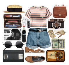 """- S u m m e r -"" by hippierose ❤ liked on Polyvore featuring J.Crew, J.W. Hulme Co., Retrò, Maje, Mimi Loves Jimi, Louis Vuitton, Chiasso, Chapstick, River Island and straw hats"