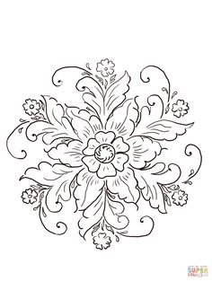 norwegian-rosemaling-coloring-page.jpg (1206×1600)