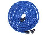 Expandable Hose - 50FT - The Blue Expanding Pocket Hose Expands up to Three Times of its Length - Water Will Sprinkle Your Garden with a High Volume Spray - Light Weight and Compact - Never Kinks or Tangles by Epicdeluxe