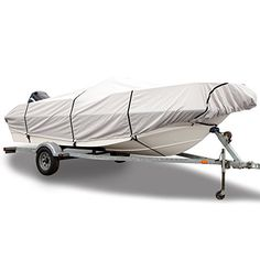 Boating-Budge 600 Denier Boat Cover fits Center Console V-Hull Boats B-631-X4…