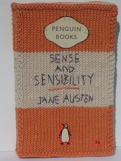 Knitted book cover - Too many books @Cally_Barker