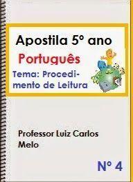 Apostila de Português – 4º e 5º ano – Descritores: Procedimentos de Leitura