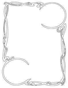 Border Art Nouveau Frame 12 ~ Bnspyrd.deviantart.com on @deviantART ~ Free Download