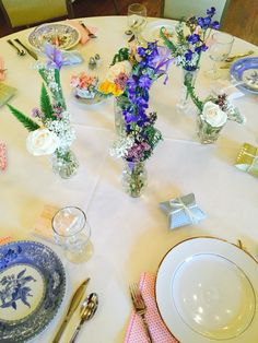 Bridal shower spring tablescape