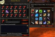 How to create macros in the World of #Warcraft
