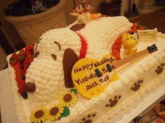 スヌーピー&ギターケーキ