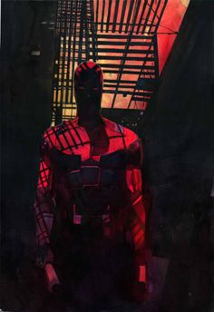 Daredevil #60 Cover Homage - Screen Used Production Art Featured on NETFLIX's new hit Daredevil TV Series - LA - 2015by artist Alex Maleev - W.B.