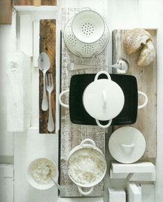 White kitchen objects // Bright.Bazaar: Styling Inspirations: Habitat (1964 - 2011)