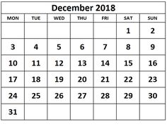 14 Best Monthly And Weekly Calendar For December 2018 Images
