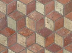 Atog Blend Antiqued 5 3/4x5 3/4 Small Rhomboid 3d Terracotta Mosaic