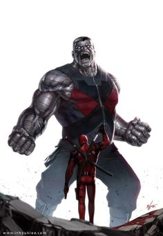 Colossus vs Deadpool by In-Hyuk Lee