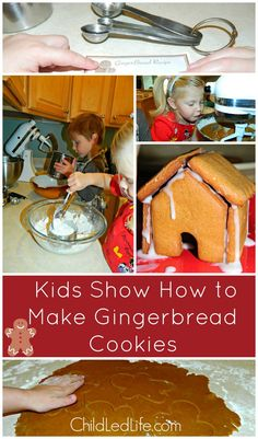 Kids Show How to Make #Gingerbread Cookies on ChildLedLife.com