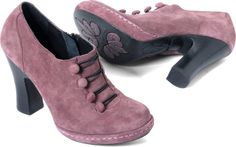 Gasp! Pink Suede Button Booties