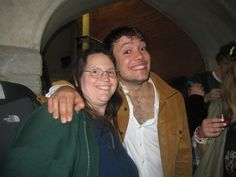 Ben Lovett of Mumford and Sons with a Fan