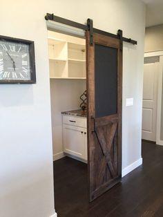 trendy sliding barn door designs home Room Doors, Sliding Pantry Doors, Home, Laundry Room Doors, New Homes, House, Door Design, Farmhouse Style, Doors Interior