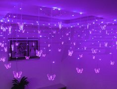 Luv these!!! http://www.aliexpress.com/item/hang-ceiling-decoration-holiday-lamp-wedding-background-corners-pavilion-decoration-0-75-8-meters-purple-butterfly/427326018.html#