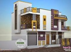 Image result for parapet wall designs Home Map Design, Small House Design, Home Interior Design, Building Elevation, House Elevation, Front Elevation, Bathroom Floor Plans, House Map, Grill Design